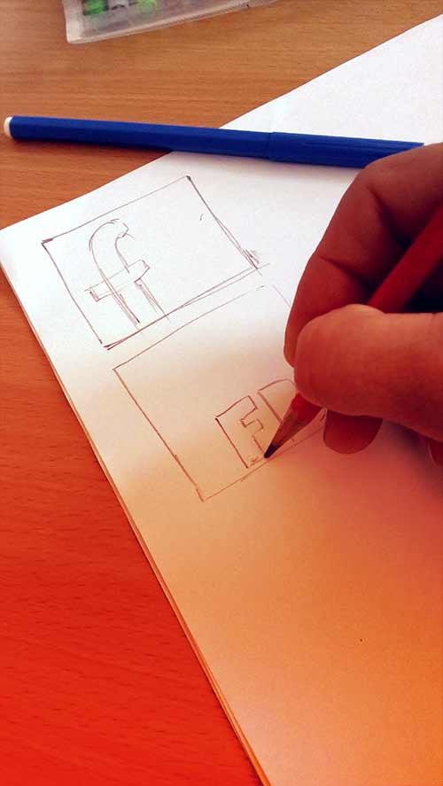Skica vzoru vankúšikov