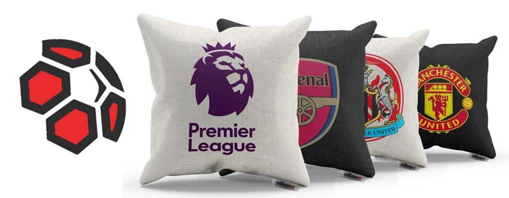 Vankúše s logami klubov Anglickej Premier League