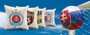 Vankúše s logami Slovenských futbalových klubov