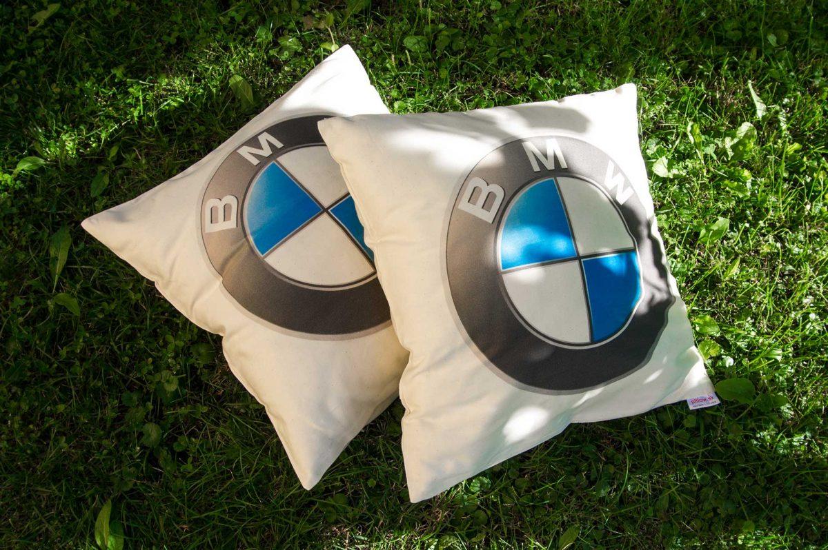 Dekoračné vankúše z bavlny s logom BMW