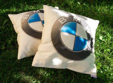 Automobilové vankúšiky BMW z kvalitnej bavlny