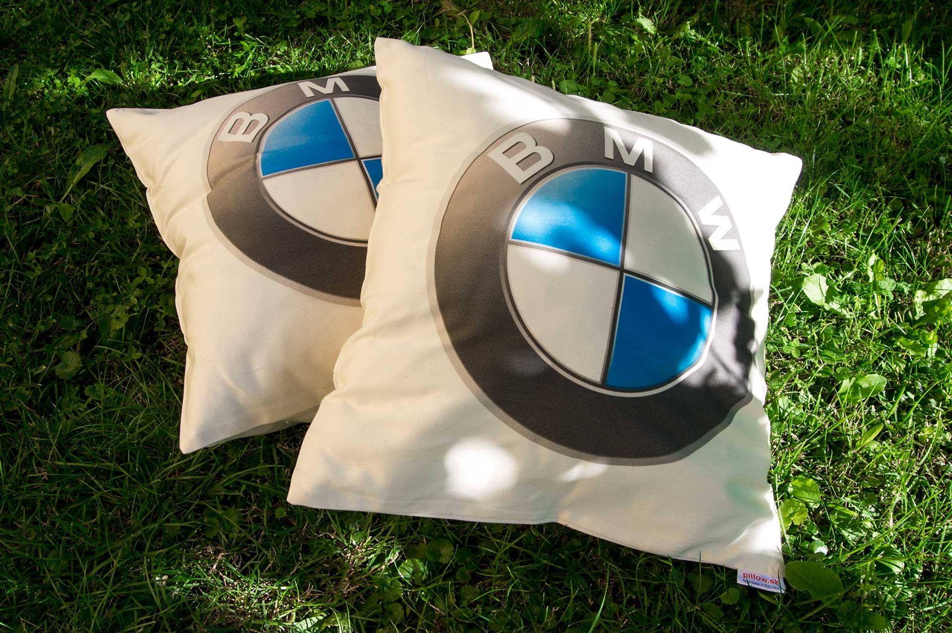 Dekoračné vankúšiky z bavlny s logom BMW