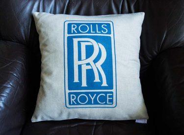 Vankúšik Rolls Royce z peknej bavlny