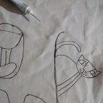 Postup kreslenia na vankúš