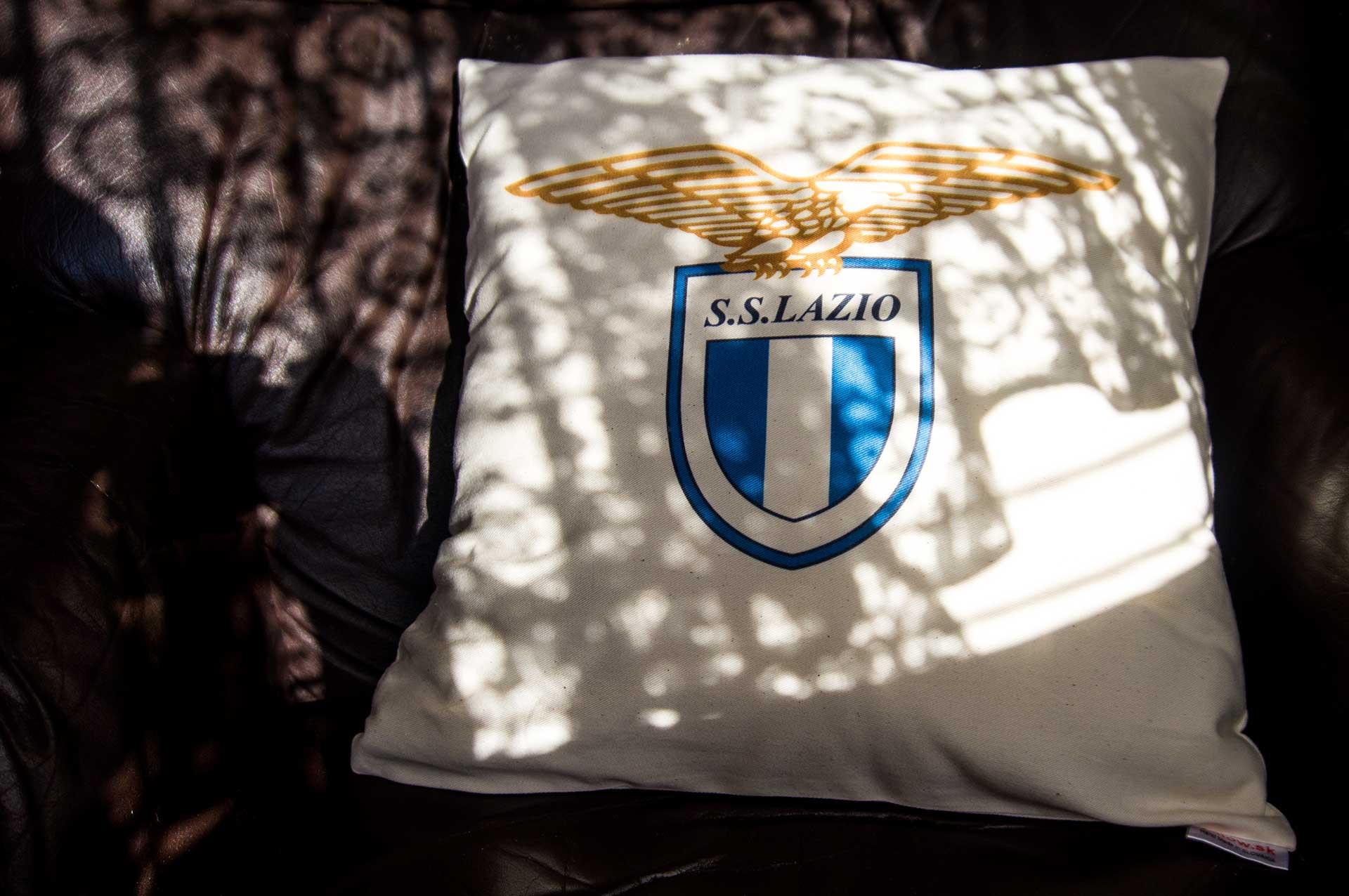 Bavlnený vankúš s logom Lazio Roma