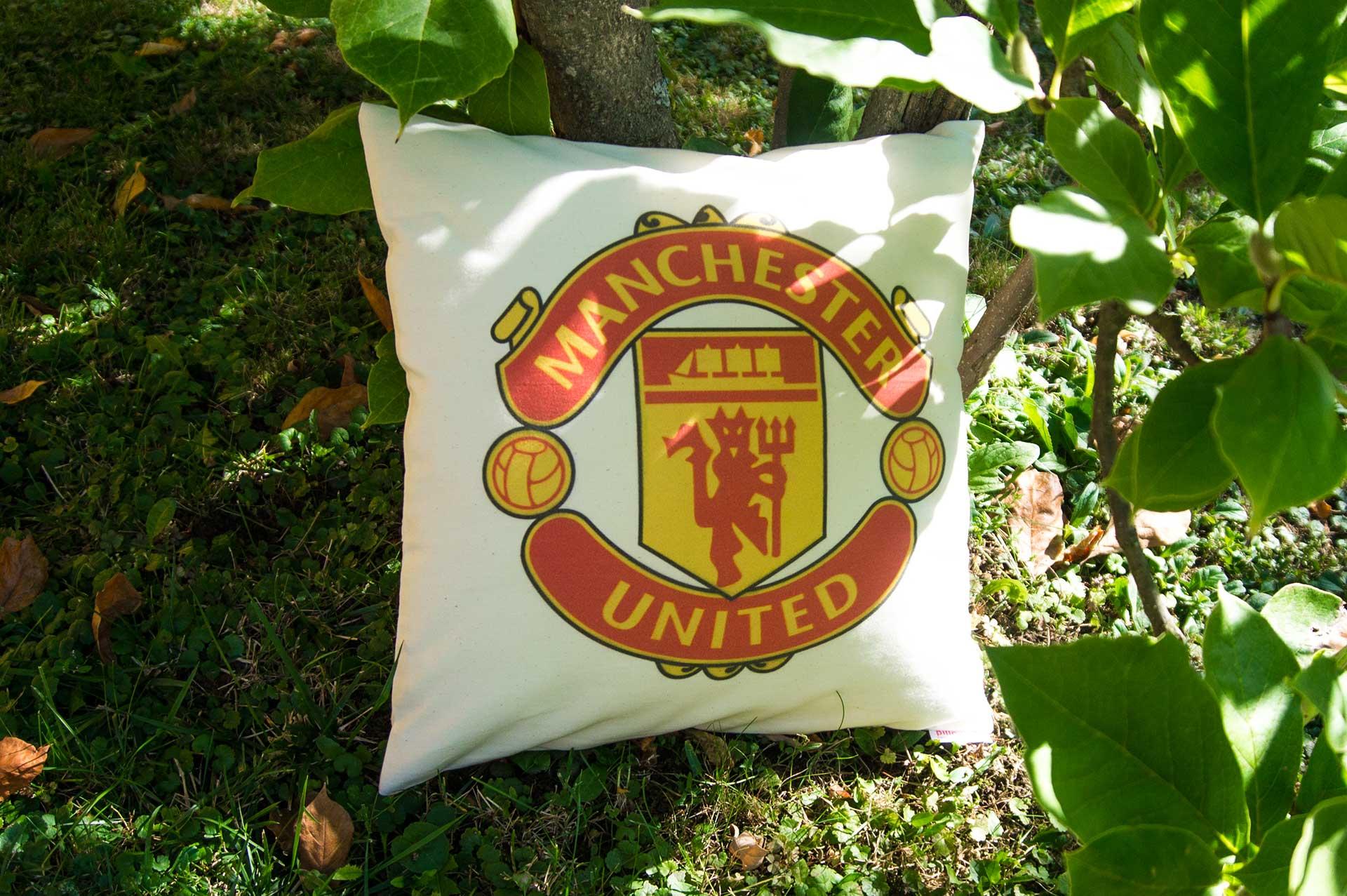 Vankúš z bavlny s logom klubu Manchester United