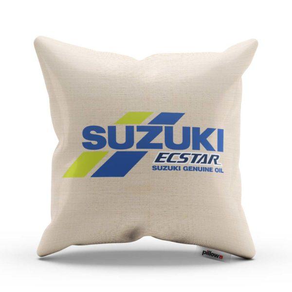 Vankúš s logom pretekárskeho teamu Suzuki MotoGP