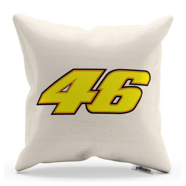 Vankúš Valentino Rossi s číslom 46 z MotoGP