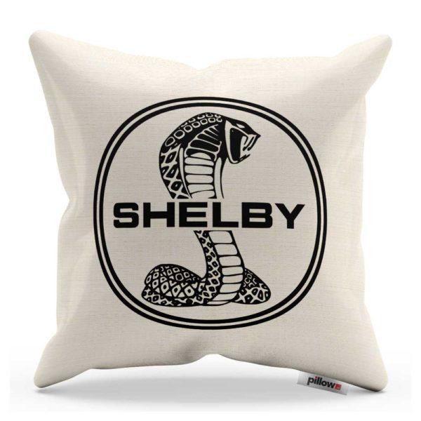 Vankúš s čiernym logom automobilu Shelby