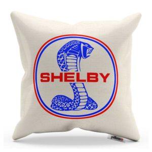Vankúš s farebným logom automobilu Shelby