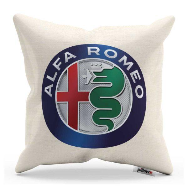 Vankúš s logom automobilu Alfa Romeo