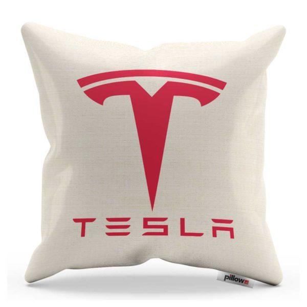 Vankúšik s logom automobilovej značky Tesla