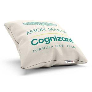 Bavlnený vankúš s logom teamu Aston Martin Cognizant F1 Team