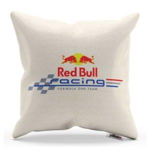 Vankúš s logom pretekárskeho teamu Red Bull Racing