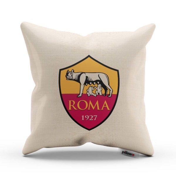 Vankúš s logom AS Rím z Talianskej Serie A