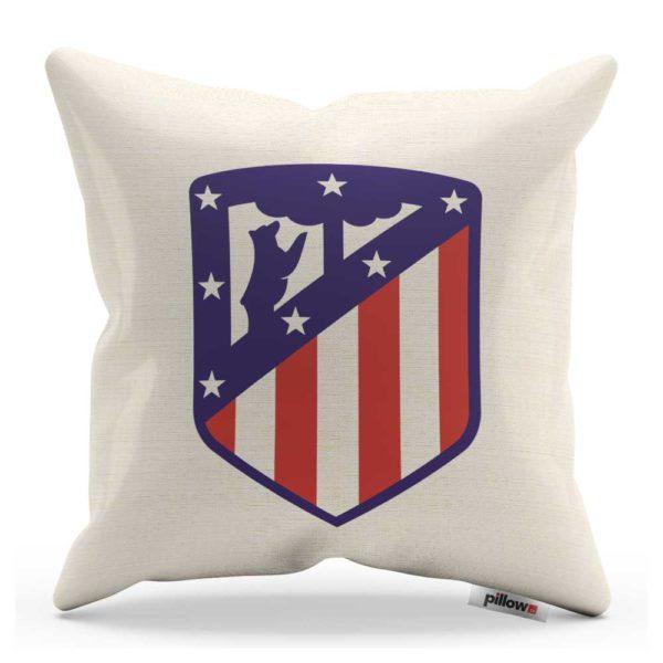 Vankúš Atlético Madrid s logom futbalového klubu z Primera División