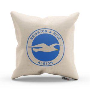 Vankúš Brighton s logom futbalového klubu Premier League