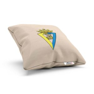 Vankúšik Cádiz CF s logom futbalového klubu z La Ligy