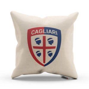 Dekoračný vankúšik s logom Cagliari Calcio v bielej farbe