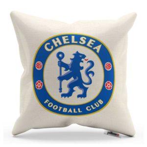 Dekoračný vankúš s logom FC Chelsea v prírodnej farbe