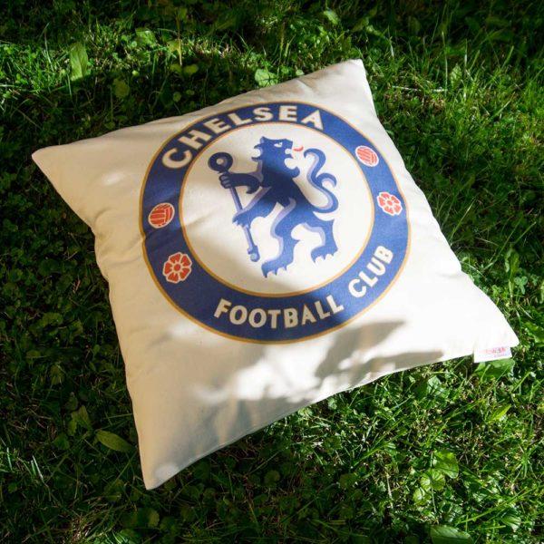 Originál vankúš s logom futbalového klubu FC Chelsea