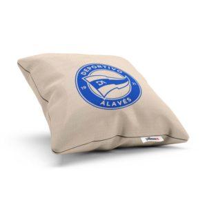 Deportivo Alavés s modrým logom na handmade vankúšiku