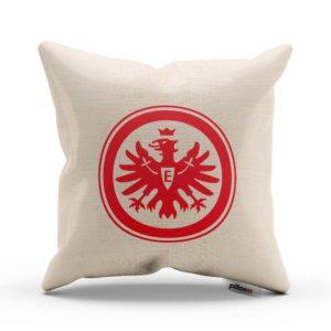 Červený emblém Eintracht Frankfurt na vankúši