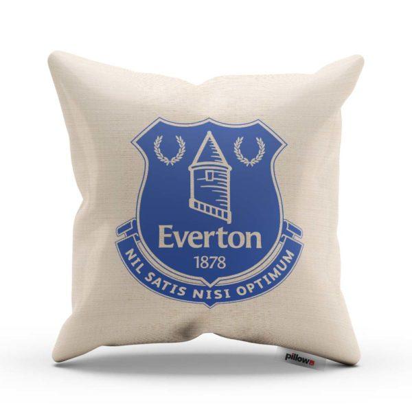 Dekoračný vankúš s emblémom klubu Everton v modrej farbe