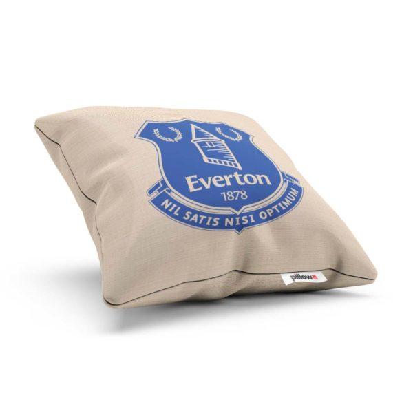 Futbalový vankúšik s emblémom Everton v modrej farbe