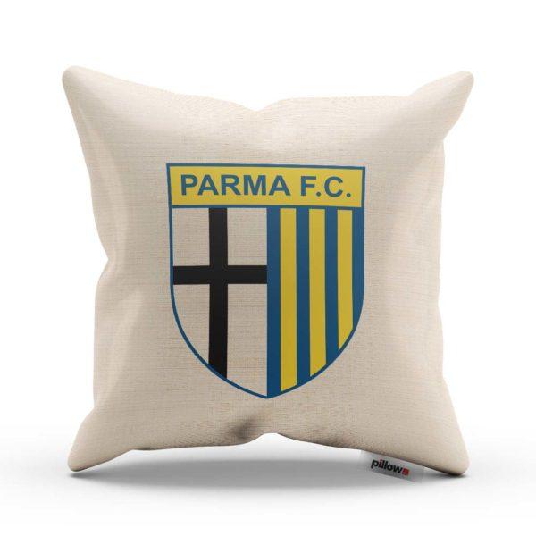 Športový vankúš s žltým logom futbalového klubu Parma FC