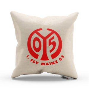 Vankúš 1. FSV Mainz s logom futbalového klubu z Bundesligy