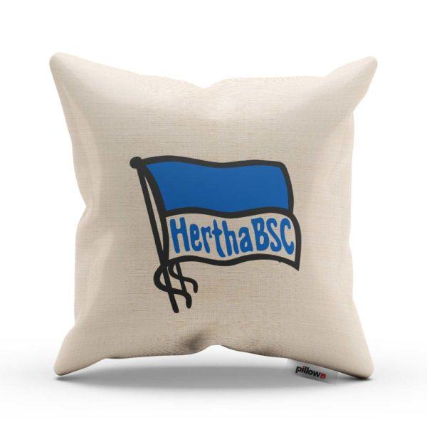 Vankúš Hertha BSC Berlin s logom futbalového klubu z Bundesligy