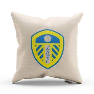 FC Leeds v jasnej žltej a modrej farbe na vankúši