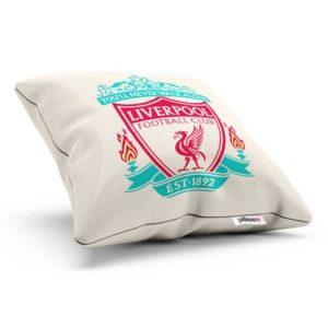 Liverpool fotbalový klub, tlačené logo na vankúši