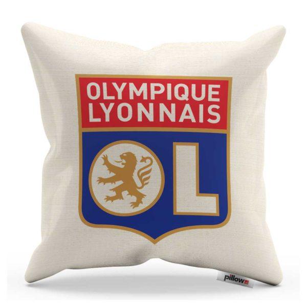 Vankúš s logom futbalového klubu Olympique Lyonnais