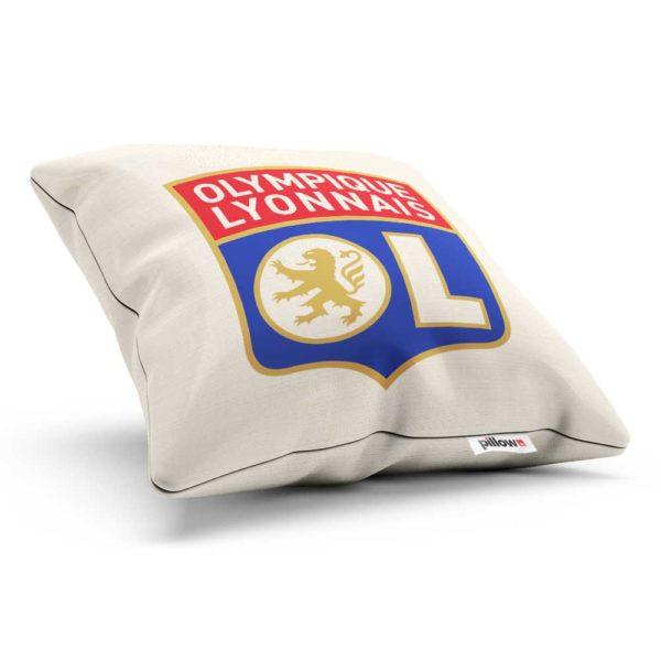 Vankúšik s logom futbalového tímu Olympique Lyon