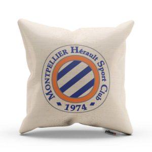 Vankúš s logom futbalového klubu Montpellier HSC