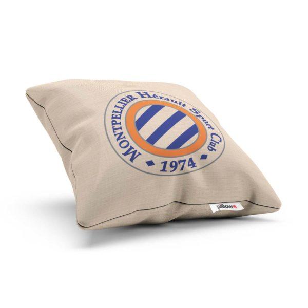Vankúšik s logom futbalového tímu Montpellier HSC