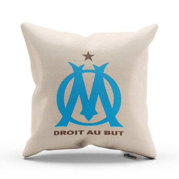 Vankúš s logom futbalového klubu Olympique de Marseille