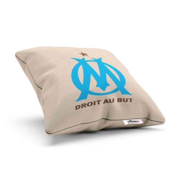 Vankúšik s logom futbalového tímu Olympique Marseille