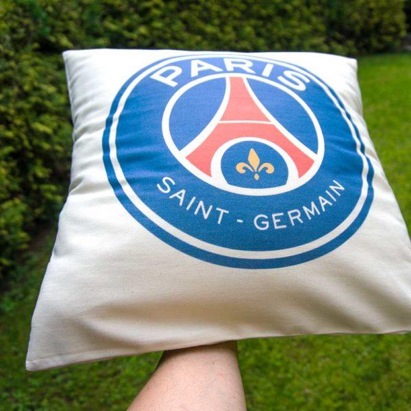 Bavlnený vankúšik s logom futbalového tímu PSG