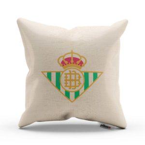 Vankúš Real Betis s logom futbalového klubu Primera División