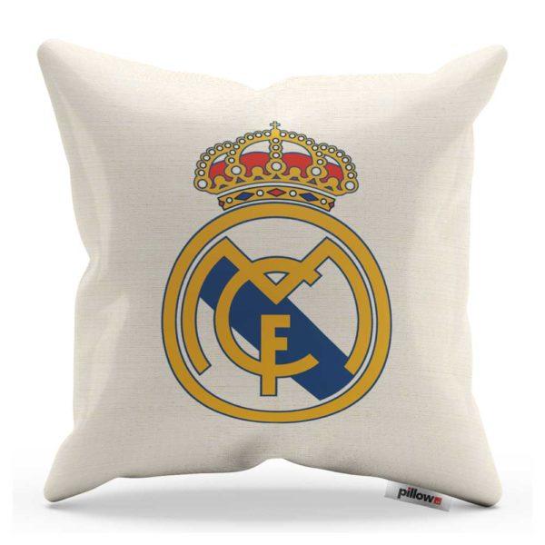 Real Madrid - biely vankúš s futbalovým znakom