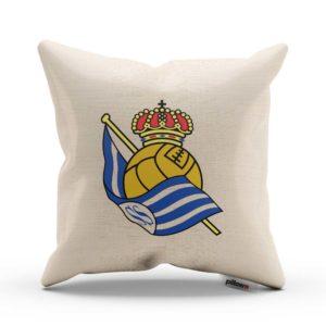 Vankúš Real Sociedad s logom futbalového klubu