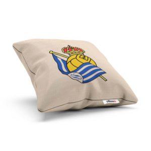 Vankúšik Real Sociedad s logom Španielskeho futbalového klubu