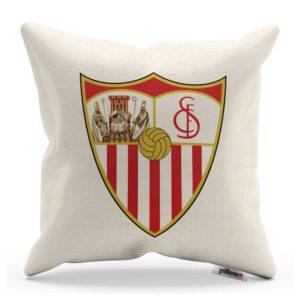 Dekoračný vankúš s logom Sevilla FC v prírodnej farbe