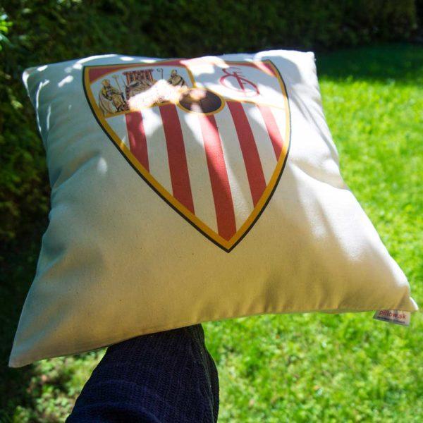 Dekoračný vankúš z bavlny s logom Sevilla FC