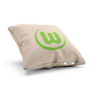 Vankúšik mužstva VfL Wolfsburg so zeleným logom