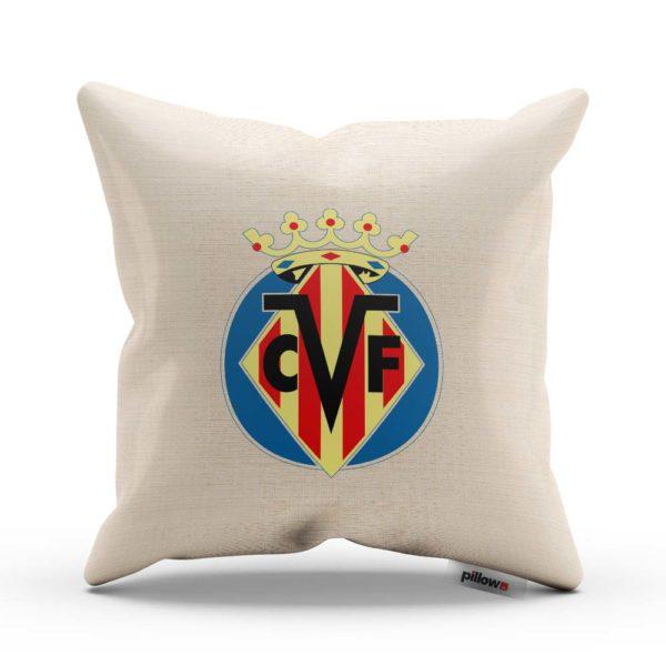 Vankúšik Villarreal CF s logom futbalového klubu z La Ligy