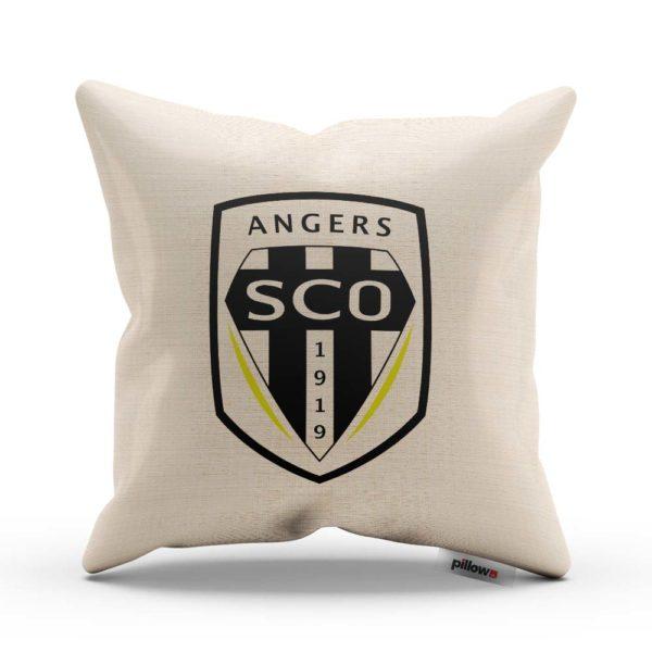 Vankúš s logom futbalového klubu Angers SCO
